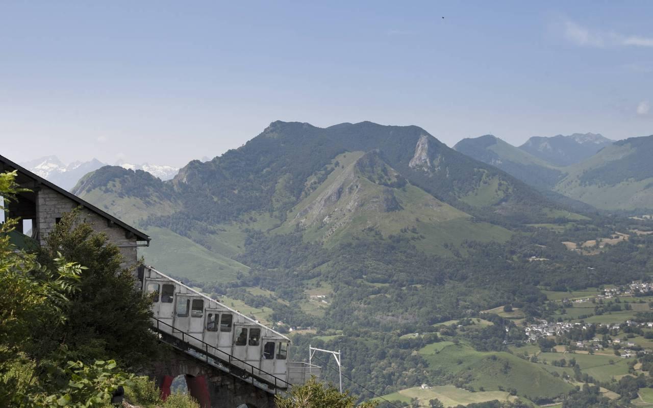 Funicular of pic du Jer, trip to lourdes, hotel Sainte-Rose