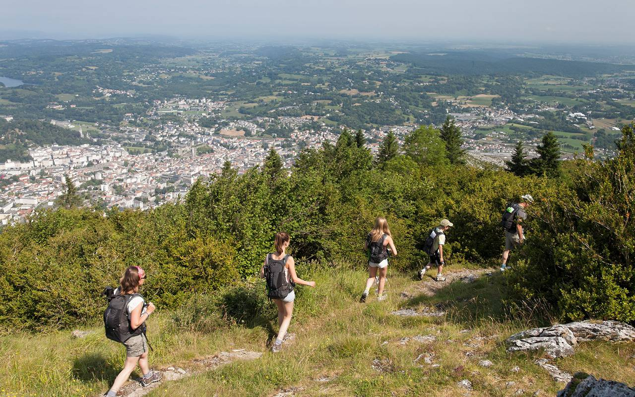 Hiking in mountains, trip to lourdes, hotel Sainte-Rose