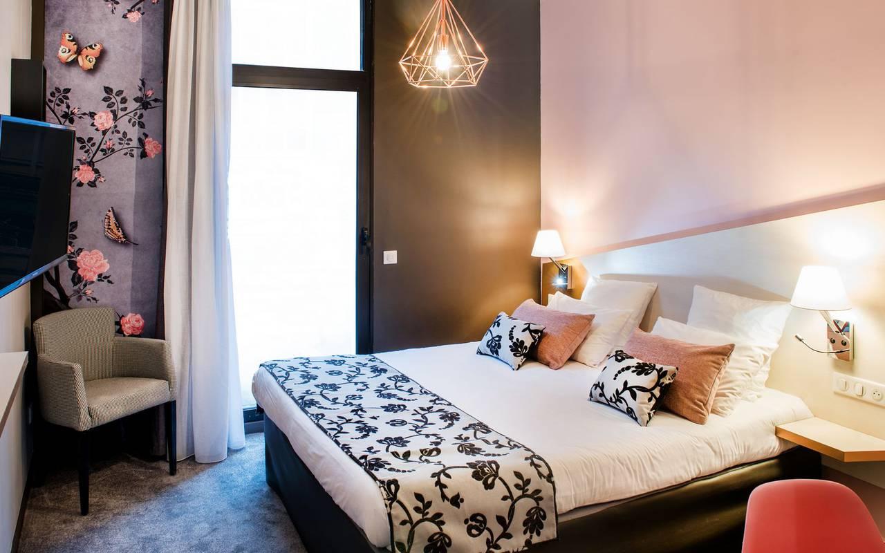 Chambre moderne, hôtel restaurant Lourdes, hôtel Sainte Rose