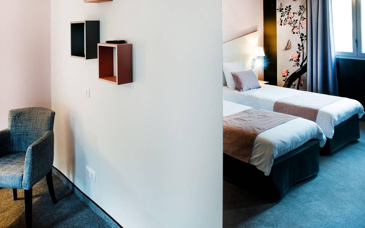 Chambre moderne, hébergement Hautes Pyrénnes, hôtel Sainte-Rose